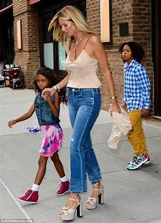 Heidi Klum Steps Out With Four Children In New York
