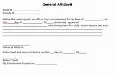 general affidavit form free general affidavit form pdf template form download
