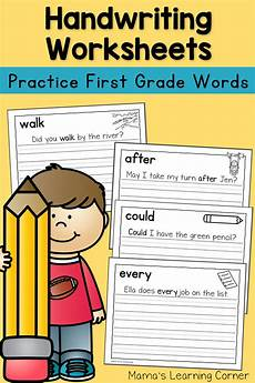 handwriting worksheets for dolch grade words mamas learning corner