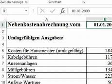 notarkosten hausbau berechnen nebenkostenabrechnung muster vorlage f 252 r excel