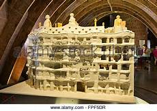 casa mila or la pedrera scale model of the building