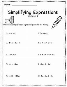algebra worksheets simplifying expressions 8571 simplifying algebraic expressions activity distribute combine like term