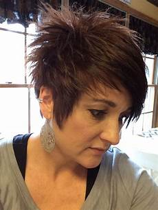 short spiky pixie haircut with long bangs pin on i m all about cute hair