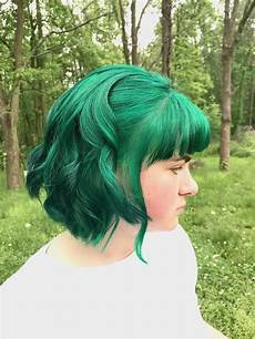 Manic Panic Enchanted Forest On Bleached Hair