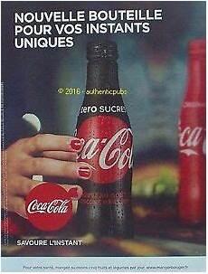 Publicite Coca Cola Zero Nouvelle Bouteille De 2016