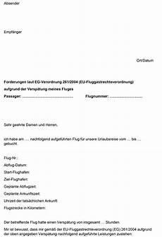 flugverspätung entschädigung musterbrief musterbrief f 252 r entsch 228 digung bei flugversp 228 tung
