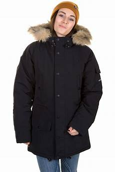 carhartt anchorage parka jacket black broken white