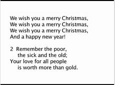 wish you a merry christmas lyrics