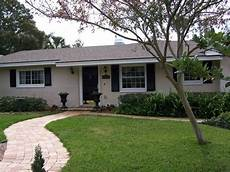 exterior paint ideas for older ranch style block homes