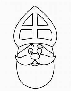 Malvorlagen Nikolausgesicht Malvorlage Gesicht Vom Nikolaus Ausmalbild 16169