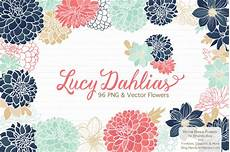 animal worksheets 13940 floral dahlias clipart in modern chic by amanda ilkov thehungryjpeg