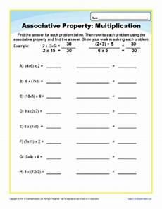 multiplication associative property worksheets for 3rd grade