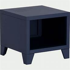 table de chevet en m 233 tal bleue myrte lofter table de
