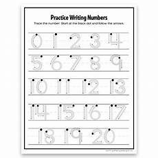 writing numbers 1 20 tracing numbers formation trace and free hand