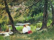 Mary Cassatt Two Women Seated by a Woodland S…