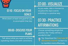 24 hour law of attraction daily routine to help attract