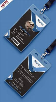 free psd multipurpose office id card template on