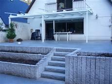 terrasse mit stufen t schulz galabau in rellingen