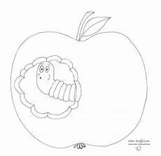 Malvorlagen Apfel Mit Wurm Gratis Malvorlagen Zum Thema Garten