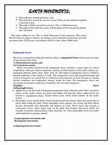 movement of the earth s crust worksheets 14432 earth movements