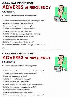 grammar worksheets adverbs of frequency 24690 adverbs of frequency speaking skills tasks gram 225 tica inglesa clase de ingl 233 s aprender ingl 233 s