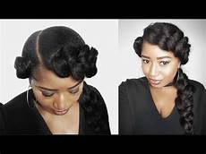 two quick and easy goddess butterfly braid natural hair