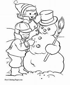 coloring pages snowman weihnachtsmalvorlagen