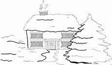 Ausmalbilder Haus Mit Schnee Haus Im Schnee 2 Ausmalbild Malvorlage Jahreszeiten