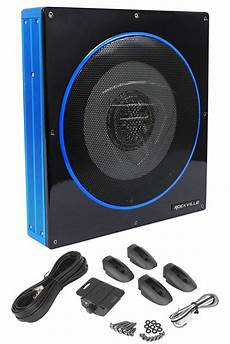 rockville rw10ca 10 800 watt slim low profile active