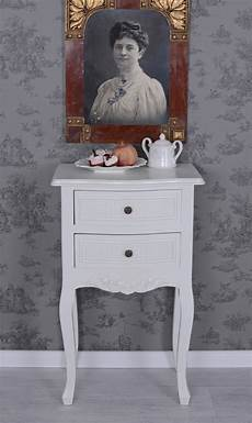 Table De Chevet Shabby Chic Placard Blanc Commode Ebay