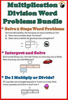 multiplication and division word problem worksheets grade 4 11312 multiplication division word problems worksheets bundle grade 3 4 division word problems word