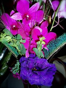 the flower purple green and turquoise wedding