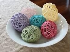 mod podge string or yarn easter egg tutorial