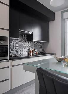 black white decoration cuisine renovation amenagement