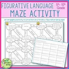 grammar maze worksheets 24882 figurative language maze worksheet by oh my tpt