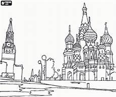 ausmalbilder roten platz in moskau russland zum ausdrucken