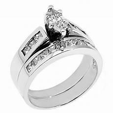womens platinum marquise cut diamond engagement ring wedding band bridal ebay