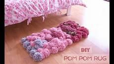 diy pom pom rug no glue bedroom decor tutorial