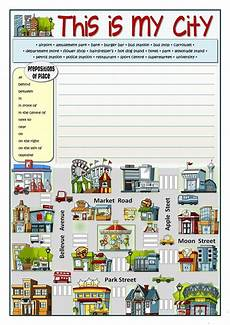 places around town worksheets 16029 this is my city direcciones en ingles ejercicios de ingles cosas de ingles