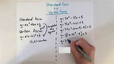 easy convert standard form to vertex form youtube