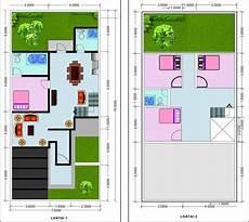 35 Denah Terbaik Rumah Minimalis Sederhana 2 Lantai