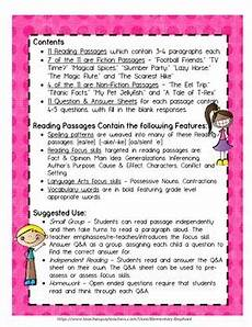 reading comprehension 11 passages for 3rd 4th grade by elementary elephant