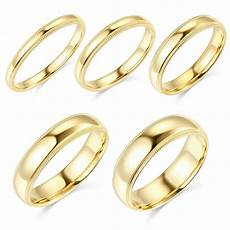 14k yellow gold 2mm 3mm 4mm 5mm 6mm comfort fit men