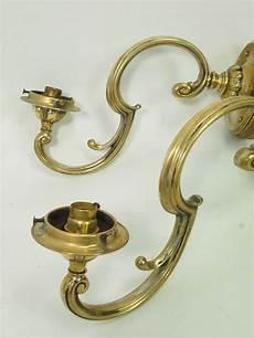 pair brass wall lights sconces