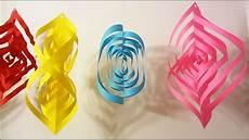 faire une guirlande en papier comment fabriquer une guirlande 3d en papier