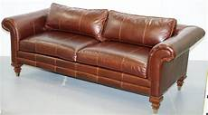 stunning ralph colonial thick brown leather three