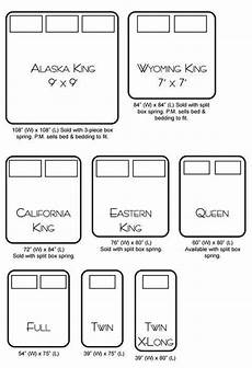 bed size chart i have cali king now but now i want an