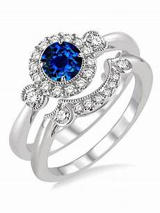 affordable 1 25 carat sapphire and diamond wedding ring