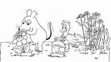 maus elefant und ente auf wiese die seite mit der maus