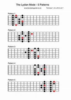 guitar scales and modes the lydian mode anyone can play guitar